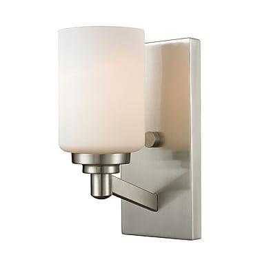 Z-Lite 410-1S Montego Wall Sconce Light Fixture, 1 Bulb, Matte Opal