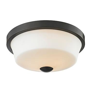 Z-Lite 411F2 Montego Flush Mount Light Fixture, 2 Bulb, Matte Opal
