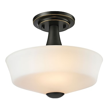 Z-Lite – Luminaire semi-encastré Montego 411SF2, 2 ampoules, opale mate