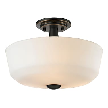 Z-Lite 411SF3 Montego Semi Flush Mount Light Fixture, 3 Bulb, Matte Opal