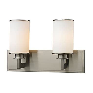 Z-Lite 412-2V Savannah Vanity Light Fixture, 2 Bulb, Matte Opal