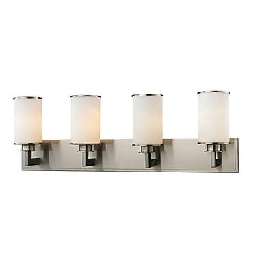 Z-Lite 412-4V Savannah Vanity Light Fixture, 4 Bulb, Matte Opal
