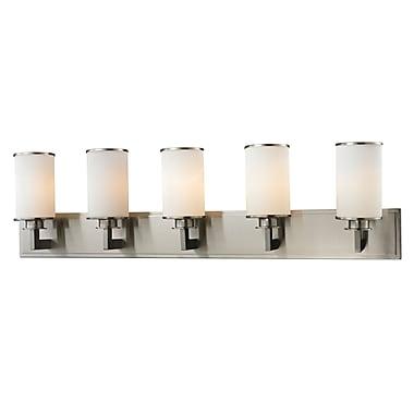Z-Lite 412-5V Savannah Vanity Light Fixture, 5 Bulb, Matte Opal