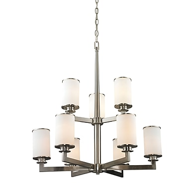 Z-Lite 412-9 Savannah Chandelier Light Fixture, 9, Matte Opal