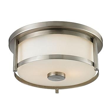 Z-Lite – Luminaire encastré Savannah 412F11, 2 ampoules, opale mate