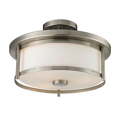 Z-Lite 412SF14 Savannah Semi Flush Mount Light Fixture, 2 Bulb, Matte Opal