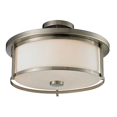 Z-Lite 412SF16 Savannah Semi Flush Mount Light Fixture, 3 Bulb, Matte Opal
