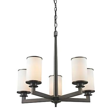 Z-Lite – Lustre Savannah 413-5, 5 ampoules, opale mate