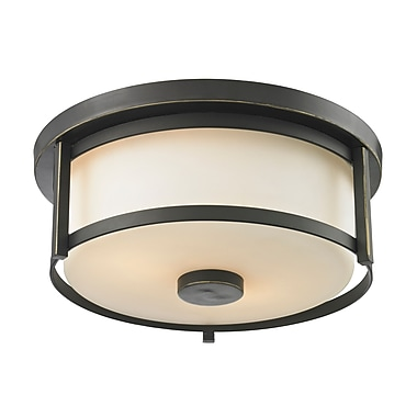 Z-Lite – Luminaire encastré Savannah 413F11, 2 ampoules, opale mate
