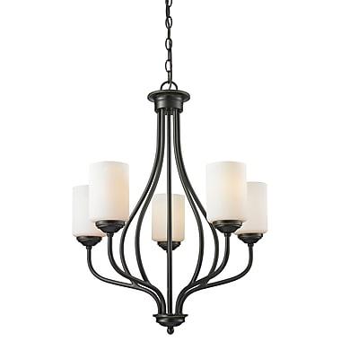 Z-Lite – Lustre Cardinal 414-5, 5 ampoules, opale mate
