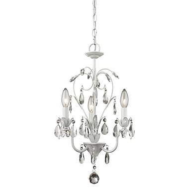 Z-Lite 417MW Princess Chandeliers Mini Chandelier Light Fixture, 3 Bulb, Clear Crystal