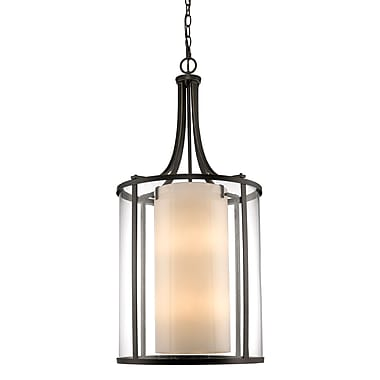 Z-Lite 426-12-OB Willow Pendant Light Fixture, 1 : 2, Inner Matte Opal & Outer Clear
