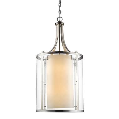 Z-Lite – Luminaire suspendu Willow 426-8-BN, 8 ampoules, intérieur opale mate et extérieur transparent