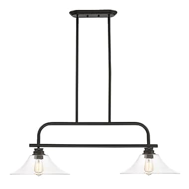 Z-Lite 428-2B-OB Annora Island/Billiard Light Fixture, 2 Bulb, Clear
