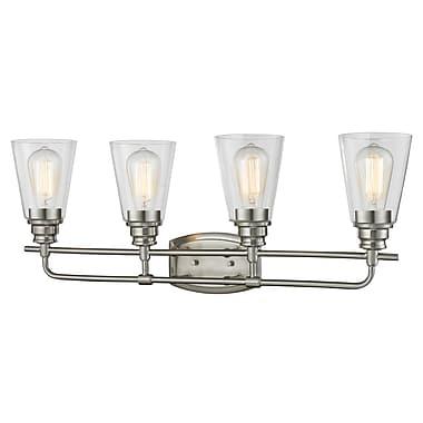 Z-Lite 428-4V-BN Annora Vanity Light Fixture, 4 Bulb, Clear