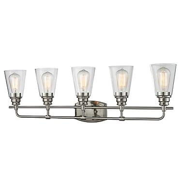 Z-Lite 428-5V-BN Annora Vanity Light Fixture, 5 Bulb, Clear