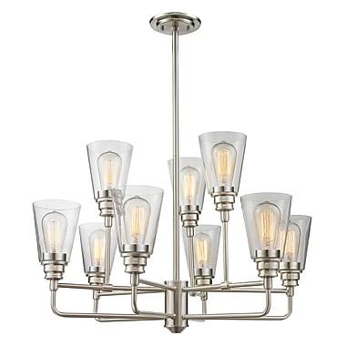 Z-Lite – Lustre Annora 428-9-BN, 9 ampoules, transparent