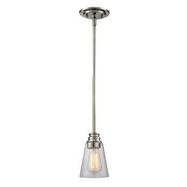 Z-Lite – Petit luminaire suspendu Annora 428MP-BN, 1 ampoule, transparent