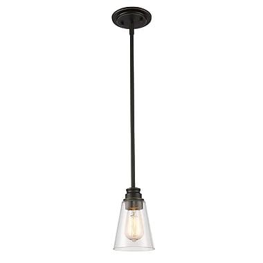 Z-Lite 428MP-OB Annora Mini Pendant Light Fixture, 1 Bulb, Clear