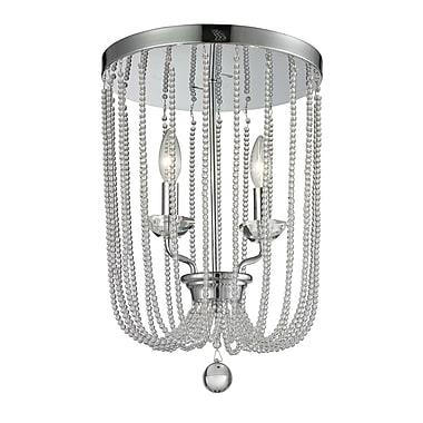 Z-Lite 429F12-CH Serenade Flush Mount Light Fixture, 2 Bulb, Clear