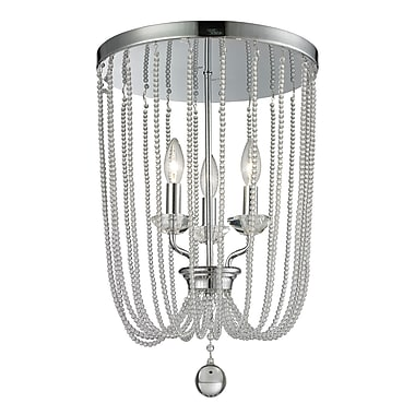 Z-Lite 429F14-CH Serenade Flush Mount Light Fixture, 3 Bulb, Clear