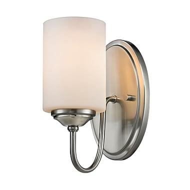 Z-Lite 434-1S-BN Cardinal Wall Sconce Light Fixture, 1 Bulb, Matte Opal