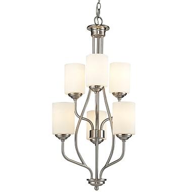 Z-Lite – Lustre Cardinal 434-6-BN, 6 ampoules, opale mate