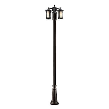 Z-Lite 528MP3-519P-ORB Woodland Outdoor Light Fixture, 3 Bulb, Matte Opal