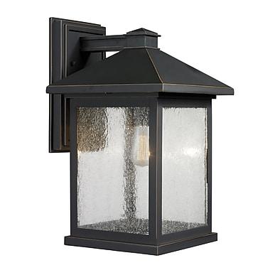 Z-Lite – Luminaire extérieur Portland 531B-ORB, 1 ampoule, transparent à grains