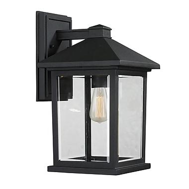 Z-Lite – Luminaire extérieur Portland 531M-BK, 1 ampoule, biseauté transparent