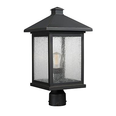 Z-Lite – Luminaire extérieur Portland 531PHBR-ORB, 1 ampoule, transparent à grains