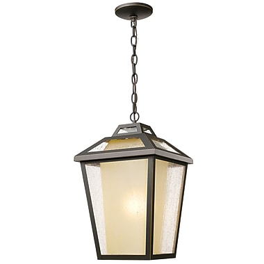 Z-Lite 532CHB-ORB Memphis Outdoor Light Fixture, 1 Bulb, Clear Seedy + Tinted