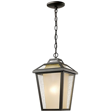 Z-Lite 532CHM-ORB Memphis Outdoor Light Fixture, 1 Bulb, Clear Seedy + Tinted