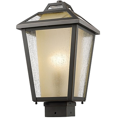 Z-Lite – Luminaire extérieur Memphis 532PHMS-ORB, 1 ampoule, transparent à grains + teinté