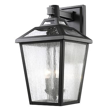Z-Lite – Luminaire extérieur Bayland 539B-BK, 3 amp., transparent à grains
