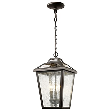 Z-Lite 539CHM-ORB Bayland Outdoor Light Fixture, 3 Bulb, Clear Seedy