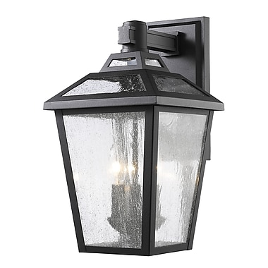 Z-Lite 539M-BK Bayland Outdoor Light Fixture, 3 Bulb, Clear Seedy