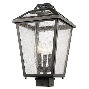 Z-Lite – Luminaire extérieur Bayland 539PHBS-ORB, 3 amp., transparent à grains