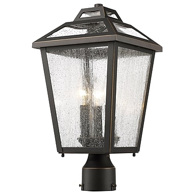 Z-Lite 539PHMR-ORB Bayland Outdoor Light Fixture, 3 Bulb, Clear Seedy