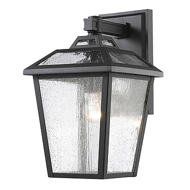 Z-Lite 539S-BK Bayland Outdoor Light Fixture, 1 Bulb, Clear Seedy