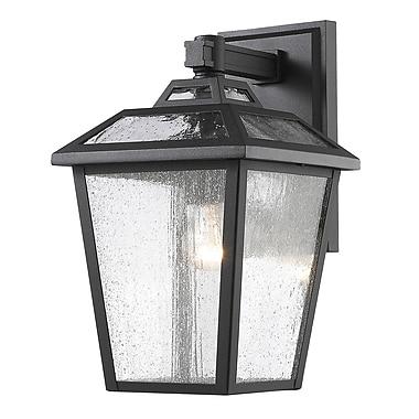 Z-Lite – Luminaire extérieur Bayland 539S-BK, 1 ampoule, transparent à grains
