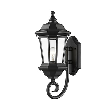 Z-Lite 540M-BK Melbourne Outdoor Light Fixture, 1 Bulb, Clear Beveled
