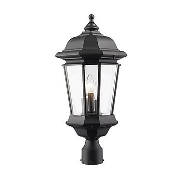 Z-Lite – Luminaire extérieur Melbourne 540PHB-BK, 3 amp., biseauté transparent