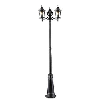 Z-Lite – Luminaire extérieur Melbourne 540SP3-BK, 3 amp., biseauté transparent