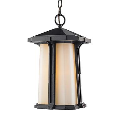 Z-Lite – Luminaire extérieur Harbor Lane 542CHM-BK, 1 ampoule, opale mate