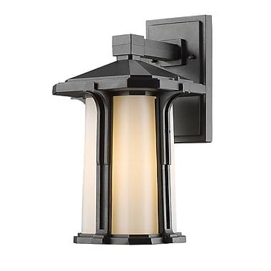Z-Lite – Luminaire extérieur Harbor Lane 542M-BK, 1 ampoule, opale mate