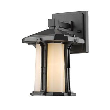 Z-Lite 542S-BK Harbor Lane Outdoor Light Fixture, 1 Bulb, Matte Opal