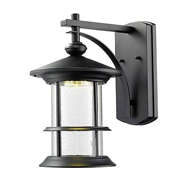 Z-Lite 552M-BK-LED Genesis Outdoor Light Fixture, 8 Bulb, Clear Seedy