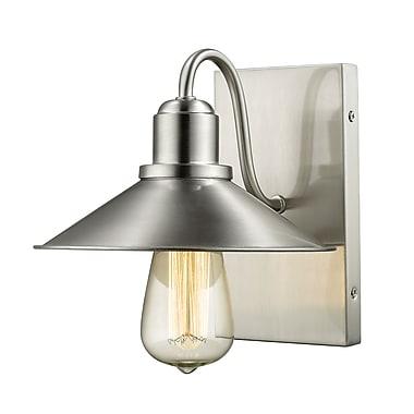 Z-Lite 613-1S-BN Casa Wall Sconce Light Fixture, 1 Bulb, Brushed Nickel