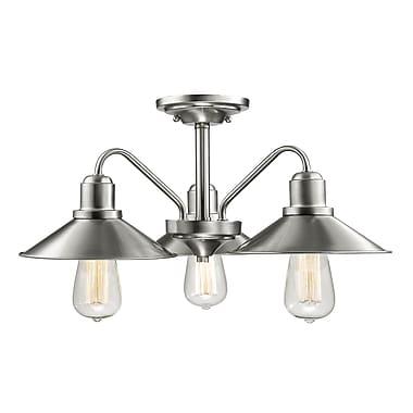 Z-Lite – Luminaire semi-encastré Casa 613SF-BN, 3 amp., nickel brossé